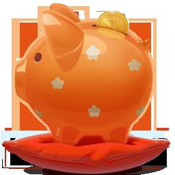 Piggybank orange