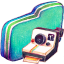 Photo Green Folder icon