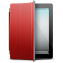 iPad 2 black red cover-128