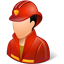 Firefighter Male Light icon