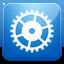 Settings blue icon