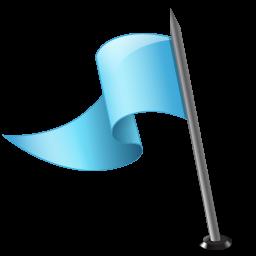 Map Marker Flag 3 Left Azure