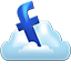 Facebook cloud icon