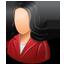 Customer Female Light icon