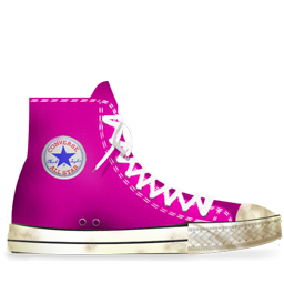 Converse Pink dirty
