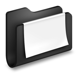 Documents Black Folder