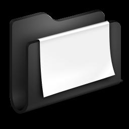 Documents Black Folder