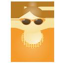 Sunglass woman orange-128