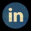Retro Linkedin Rounded
