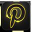 Pinterest neon glow icon