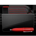 Folder Documents black red-128