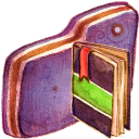 Notebook Violet Folder-128