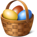 Easter Eggs Basket-128