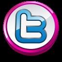 Twitter pink button-128