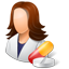Pharmacist Female Light icon