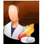 Pharmacist Female Light icon