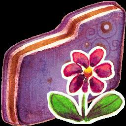 Flower Violet Folder