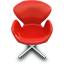 Red chair icon
