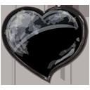 Herz schwarz-128