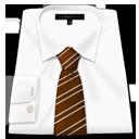 Shirt Brown Tie-128