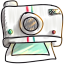 Instant Photo Cartoon Icon