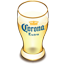 Corona beer glass icon