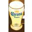 Corona beer glass icon