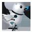 Futuristic Twitter Bird-64