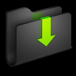 Downloads Black Folder Icon | Download Alumin Folders ...