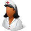 Nurse Female Dark icon