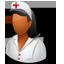 Nurse Female Dark icon