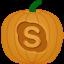 Skype Pumpkin Icon