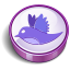 Twitter purple cooky icon