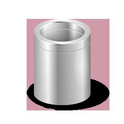 Recycle Bin Silver Empty