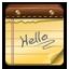 Hello Note Icon