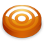 Rss orange circle icon