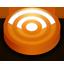 Rss orange circle icon