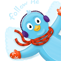 winter snow angel follow me
