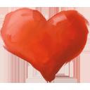 Heart hand drawn