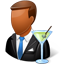 Bartender Male Dark Icon