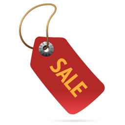Red Sale Label
