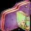 Book Violet Folder icon