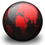 Globe black red Icon