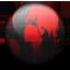 Globe black red Icon
