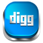 Digg blue button icon