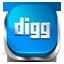 Digg blue button icon