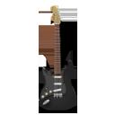 Stratocaster guitar black-128