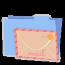 Blue folder mail-128