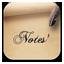 Notes Vintage icon