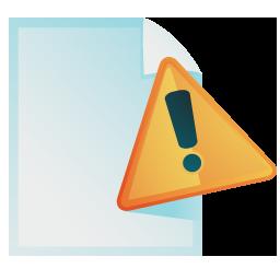 Document warning